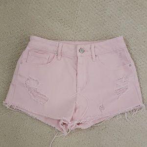 Pacsun Pink Denim Short